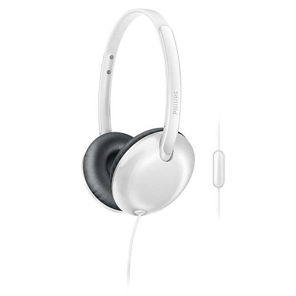 Philips Flite Ultrlite headphone with mic - white