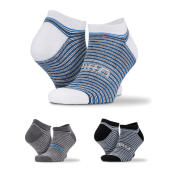 3-Pack Mixed Stripe Sneaker Socks - Color Mix 2