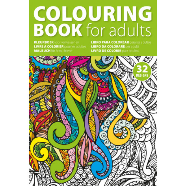 Cardboard colouring book