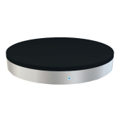 ZENS USB Single Wireless Charger Round - black