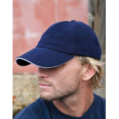 Memphis Low Profile Sandwich Peak Cap - Black/Red