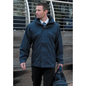 3-in-1 zip and clip jacket black s