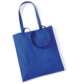 Bag for life - long handles bright royal blue one size