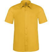 Ace - heren overhemd korte mouwen yellow 3xl