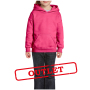 Gildan Sweater Hooded HeavyBlend for kids Safety Pink-35% korting XS