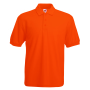 65/35 Pique Polo, Orange, S, FOL
