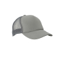 5 Panel Polyester Mesh Cap donkergrijs