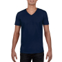 Gildan T-shirt V-Neck SoftStyle SS for him Navy S