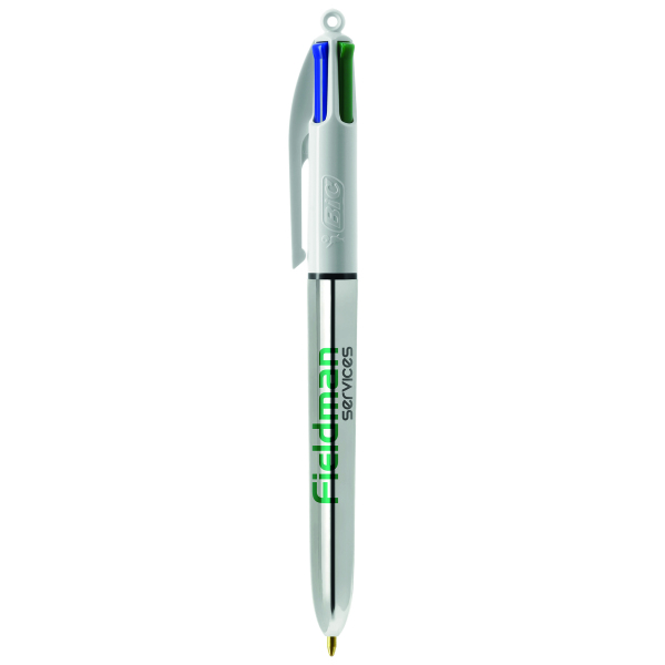 BIC® 4 Colours Shine with lanyard ballpen