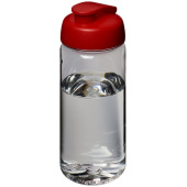 H2O Octave Tritan™ 600 ml sportfles met flipcapdeksel - Transparant,Rood