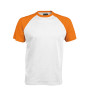 BASE BALL > T-SHIRT BICOLORE MANCHES COURTES white / orange M