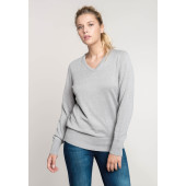 Dames pullover met v-hals light royal blue m