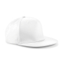 5 Panel Snapback Rapper Cap - White