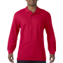 Gildan Polo Premium Cotton Double Pique LS for him Red M