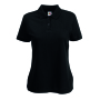 65/35  Lady-Fit Polo, Black, XL, FOL