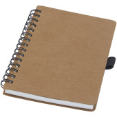 Cobble A6 wire-o gerecycled kartonnen notitieboek met steenpapier