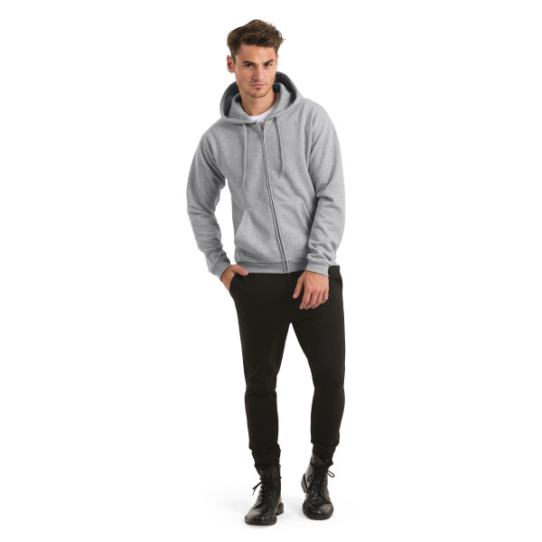 Id.205 hooded full zip sweatshirt