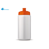 Sportbidon Basic 500ml wit / oranje