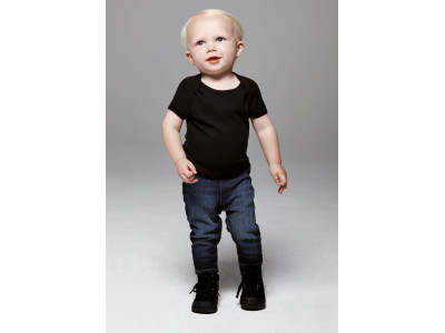 Baby rib short sleeve t-shirt