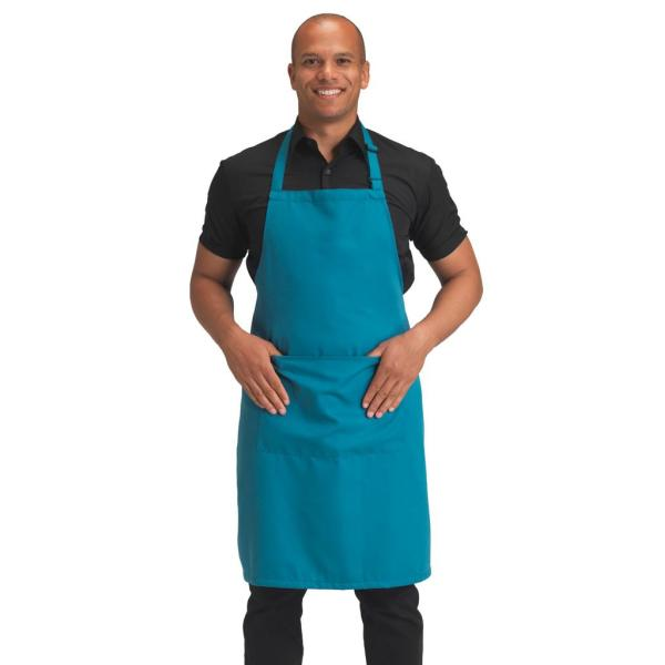 Polyester Bib Apron with Pocket