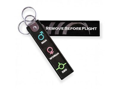 Remove before flight sleutelhanger + WOVEN logo
