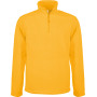 Enzo - fleece met ritskraag yellow l