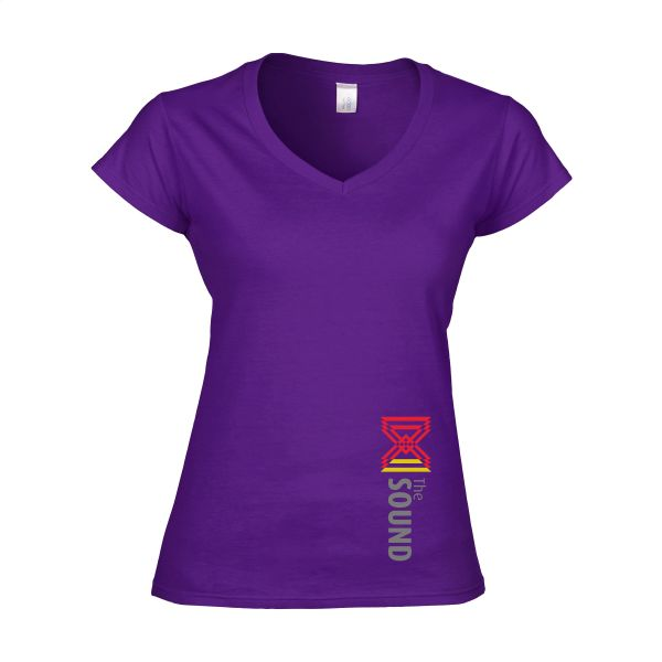 Gildan Softstyle V-Neck T-shirt dames