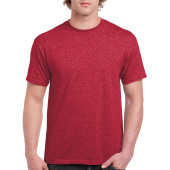 Gildan T-shirt Ultra Cotton SS Heather Cardinal S