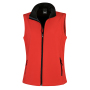 Bedrukbare Soft Shell Bodywarmer Dames XXL Red/Black