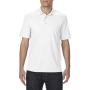 Gildan Polo Performance Double Pique SS for him white 3XL
