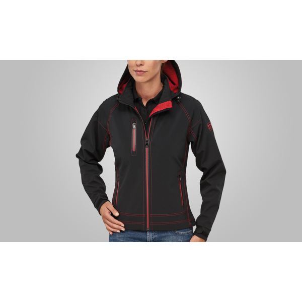 Macseis Jacket Softshell Twotone for her Black/RD