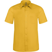 Ace - heren overhemd korte mouwen yellow m