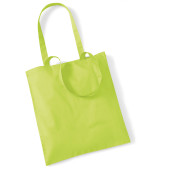Bag for life - long handles lime green one size