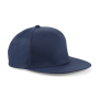 5 Panel Snapback Rapper Cap - French Navy