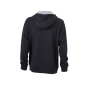 Men's Lifestyle Zip-Hoody - zwart/heather grijs