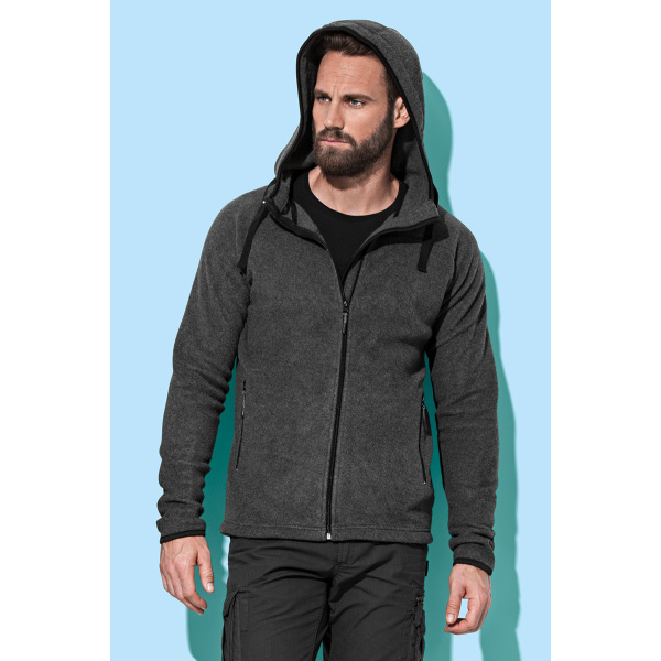 Stedman Power Fleece Cardigan Hooded for him