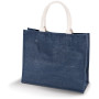 Jute strandtas mid night blue one size