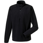1/4 zip microfleece black xxl