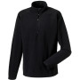 1/4 zip microfleece black m