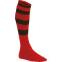 Gestreepte sportsokken sporty red / black '27/30 eu