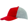 5-panel baseballcap UP TO DATE - grijs, rood