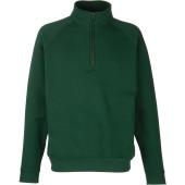 Premium zip neck sweat (62-032-0) bottle green xl
