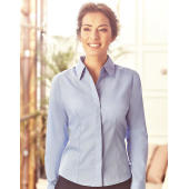 Ladies' LS Fitted Poplin Shirt