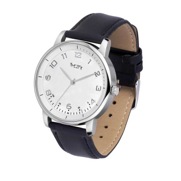 WatchTracker - nylon black - white