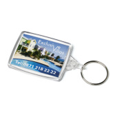 Acrylic Passport Keyfob 41x61mm doorzichtig