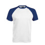 BASE BALL > T-SHIRT BICOLORE MANCHES COURTES white / royal blue S
