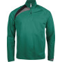 Kindertrainingsweater met ritskraag dark green / black / storm grey '6/8