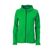 Ladies' Stretchfleece Jacket - varengroen/carbon