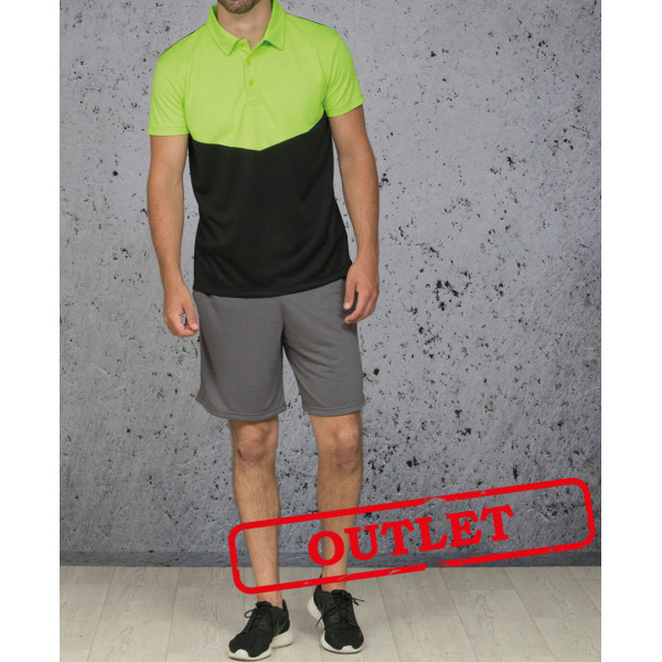 L&S Polo Contrast Sport SS for him