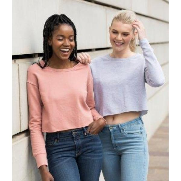 AWDis Ladies Cropped Sweatshirt